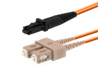 Picture of 10m Multimode Duplex Fiber Optic Patch Cable (62.5/125) - MTRJ to SC