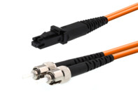 Picture of 1m Multimode Duplex Fiber Optic Patch Cable (50/125) - ST to MTRJ