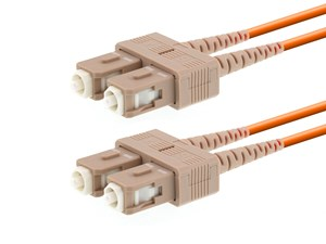 Picture of 5m Multimode Duplex Fiber Optic Patch Cable (62.5/125) - SC to SC