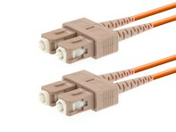 Picture of 10m Multimode Duplex Fiber Optic Patch Cable (50/125) - SC to SC