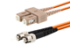 Picture of 7m Multimode Duplex Fiber Optic Patch Cable (62.5/125) - ST to SC