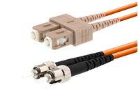 Picture of 20m Multimode Duplex Fiber Optic Patch Cable (50/125) - SC to ST