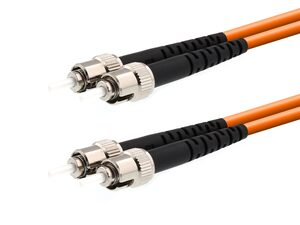 Picture of 5m Multimode Duplex Fiber Optic Patch Cable (62.5/125) - ST to ST