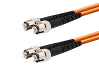 Picture of 1m Multimode Duplex Fiber Optic Patch Cable (50/125) - ST to ST
