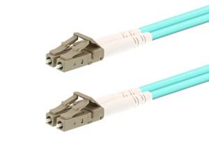 Picture of 25m Multimode Duplex Fiber Optic Patch Cable (50/125) OM3 Aqua - Laser Opt - LC to LC