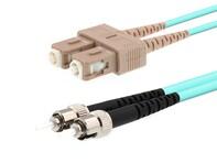 Picture of 3m Multimode Duplex Fiber Optic Patch Cable (50/125) OM3 Aqua - Laser Opt - SC to ST