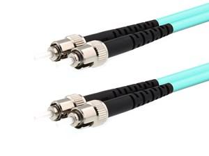 Picture of 45m Multimode Duplex Fiber Optic Patch Cable (50/125) OM3 Aqua - Laser Opt - ST to ST
