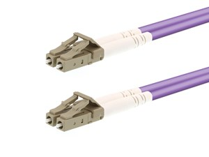 Picture of 10m Multimode Duplex OM4 Fiber Optic Patch Cable (50/125) - LC to LC