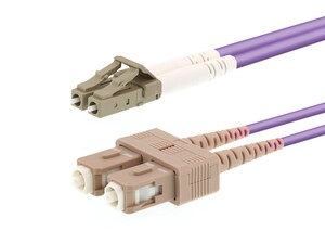 Picture of 20m Multimode Duplex OM4 Fiber Optic Patch Cable (50/125) - LC to SC