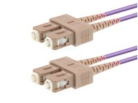 Picture of 1m Multimode Duplex OM4 Fiber Optic Patch Cable (50/125) - SC to SC