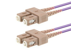 Picture of 7m Multimode Duplex OM4 Fiber Optic Patch Cable (50/125) - SC to SC
