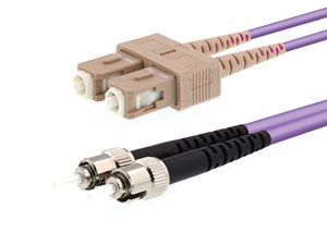 Picture of 20m Multimode Duplex OM4 Fiber Optic Patch Cable (50/125) - SC to ST