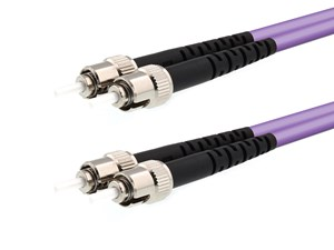 Picture of 20m Multimode Duplex OM4 Fiber Optic Patch Cable (50/125) - ST to ST