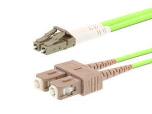 Picture of 3m OM5 Wideband Multimode Duplex Fiber Optic Patch Cable (50/125) - LC to SC