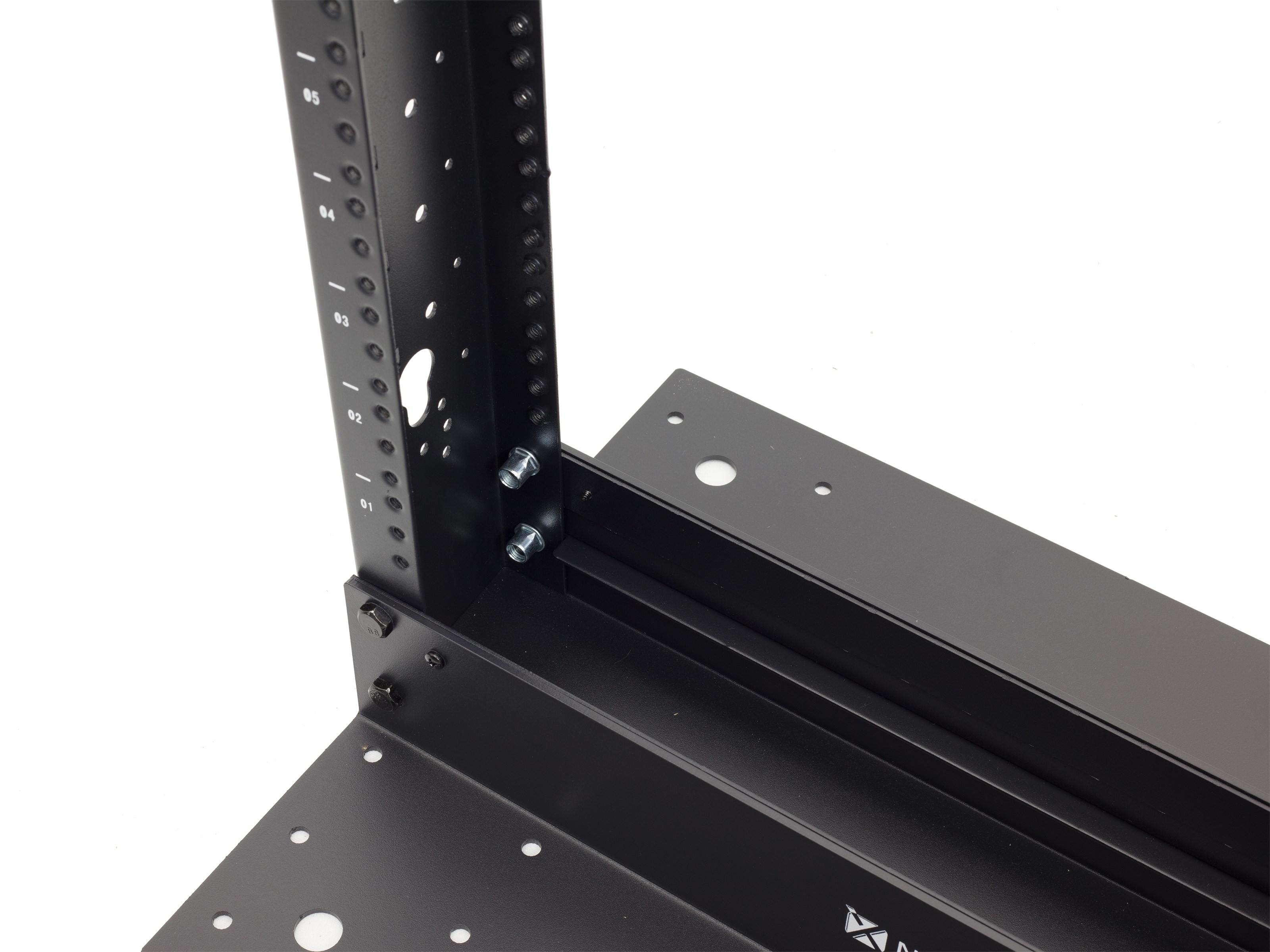 2-Post Open Frame Network Relay Rack - 45U, 12-24 tapped Rails ...