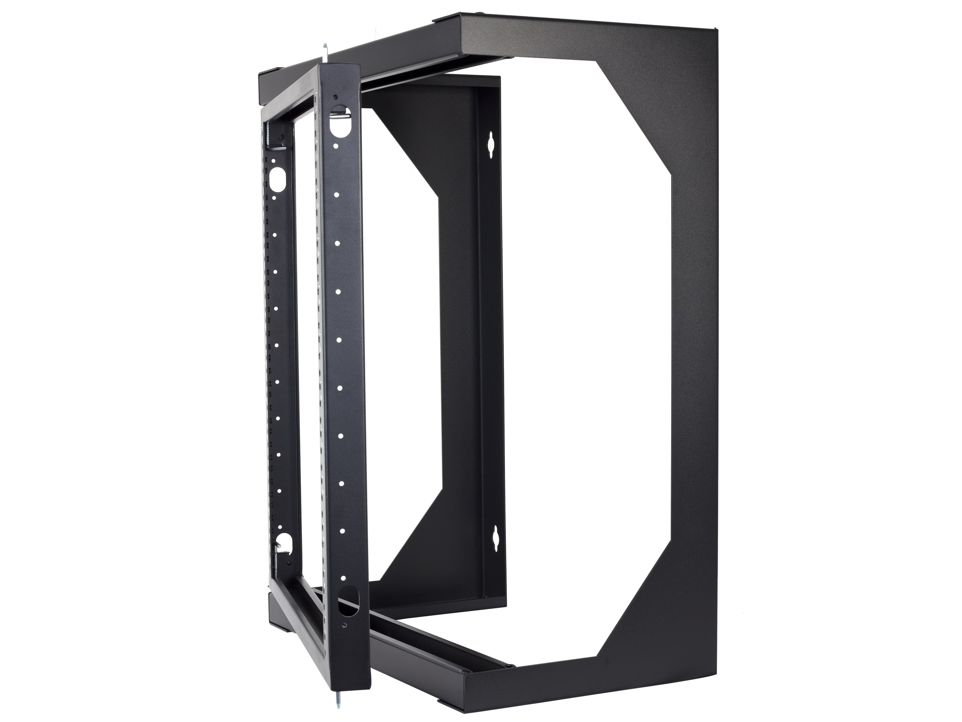 Picture Of 6u Open Frame Swing Out Wall Mount Rack 201 Series 12 Inches