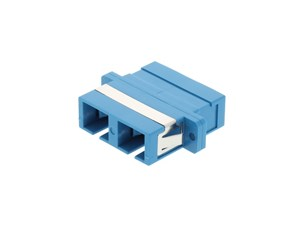 Picture of SC Singlemode Duplex Fiber Adapter - PC (Physical Connector)