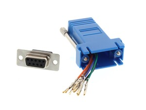Picture of Modular Adapter Kit - DB9 Female to RJ45 - Blue