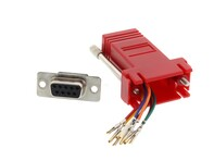 Picture of Modular Adapter Kit - DB9 Female to RJ45 - Red