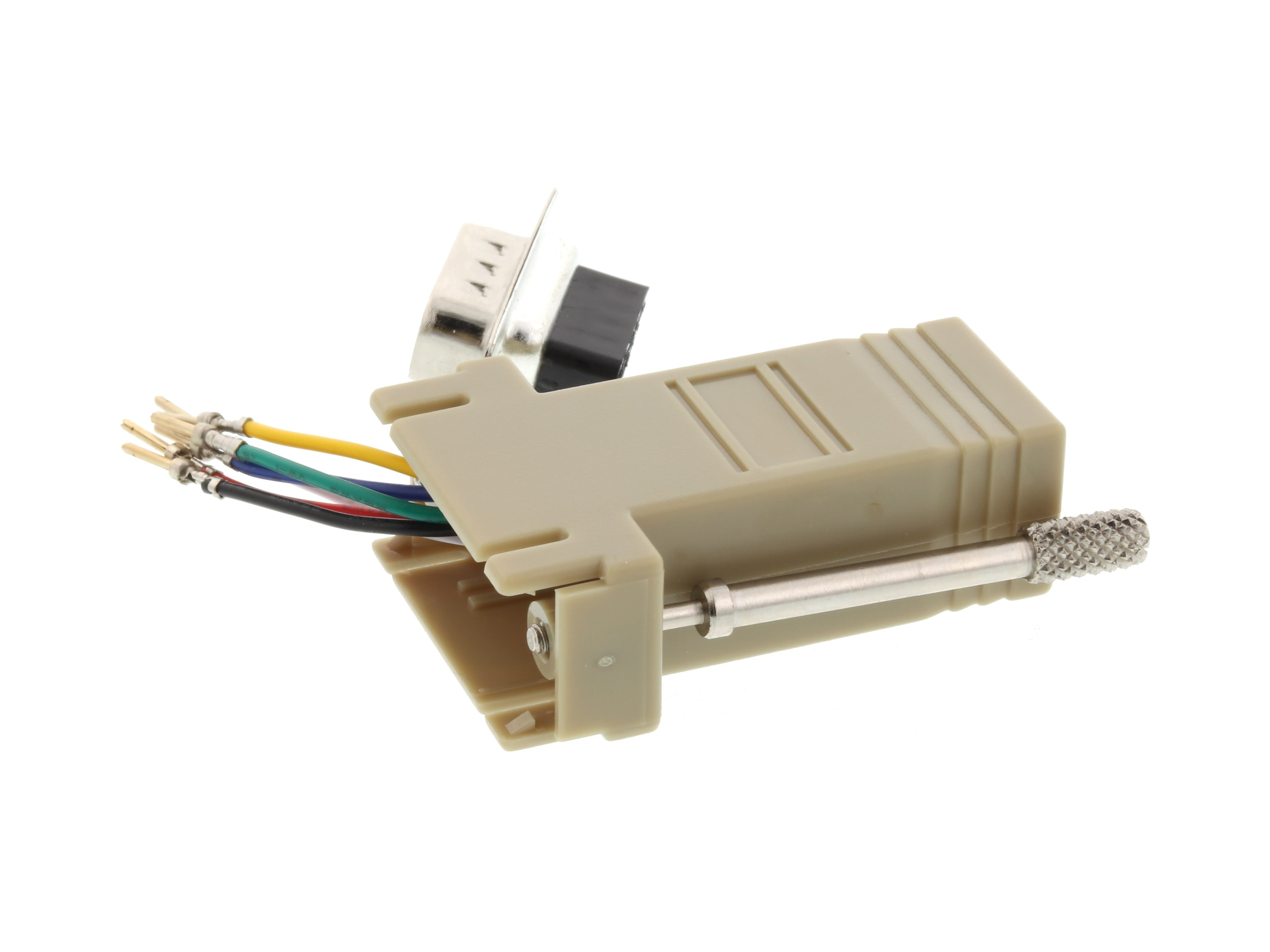 Modular Adapter Kit Db9 Male To Rj11 Rj12 Beige Computer Cable Rack Wiring Picture Of