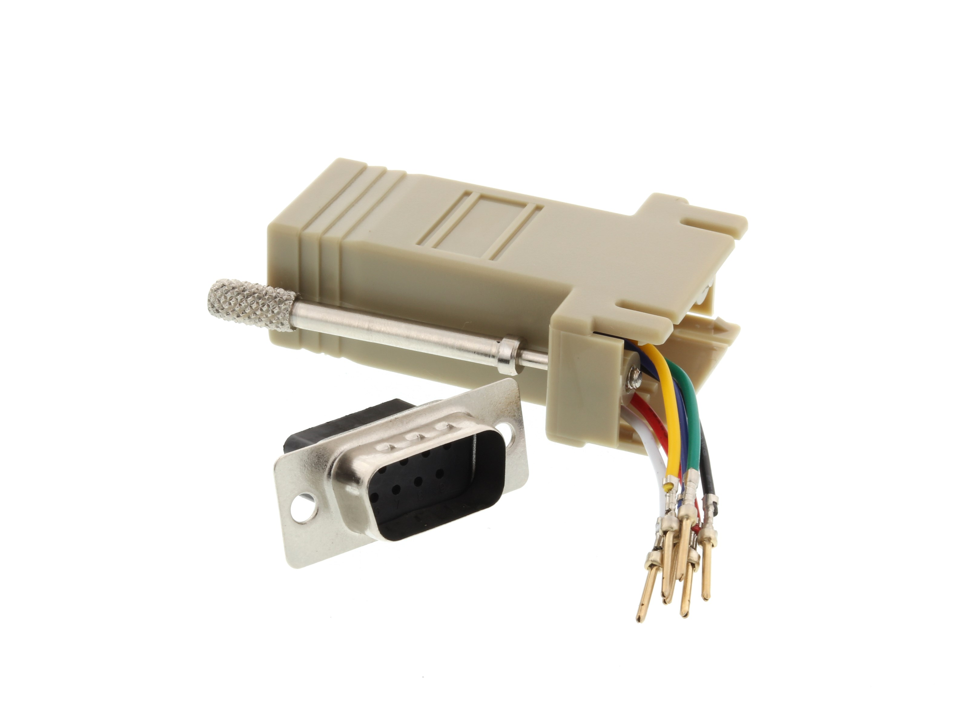 Brilliant Modular Adapter Kit Db9 Male To Rj11 Rj12 Beige Computer Cable Wiring Cloud Hisonuggs Outletorg