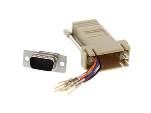 Picture of Modular Adapter Kit - DB9 Male to RJ45 - Beige