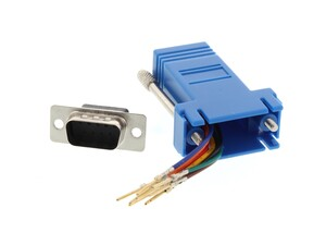 Picture of Modular Adapter Kit - DB9 Male to RJ45 - Blue