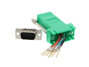 Picture of Modular Adapter Kit - DB9 Male to RJ45 - Green