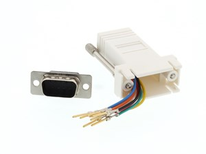 Picture of Modular Adapter Kit - DB9 Male to RJ45 - White