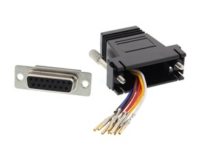 Picture of Modular Adapter Kit - DB15 Female to RJ45 - Black