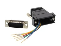 Picture of Modular Adapter Kit - DB15 Male to RJ11 / RJ12 - Black