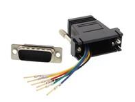 Picture of Modular Adapter Kit - DB15 Male to RJ11 / RJ12 - Black