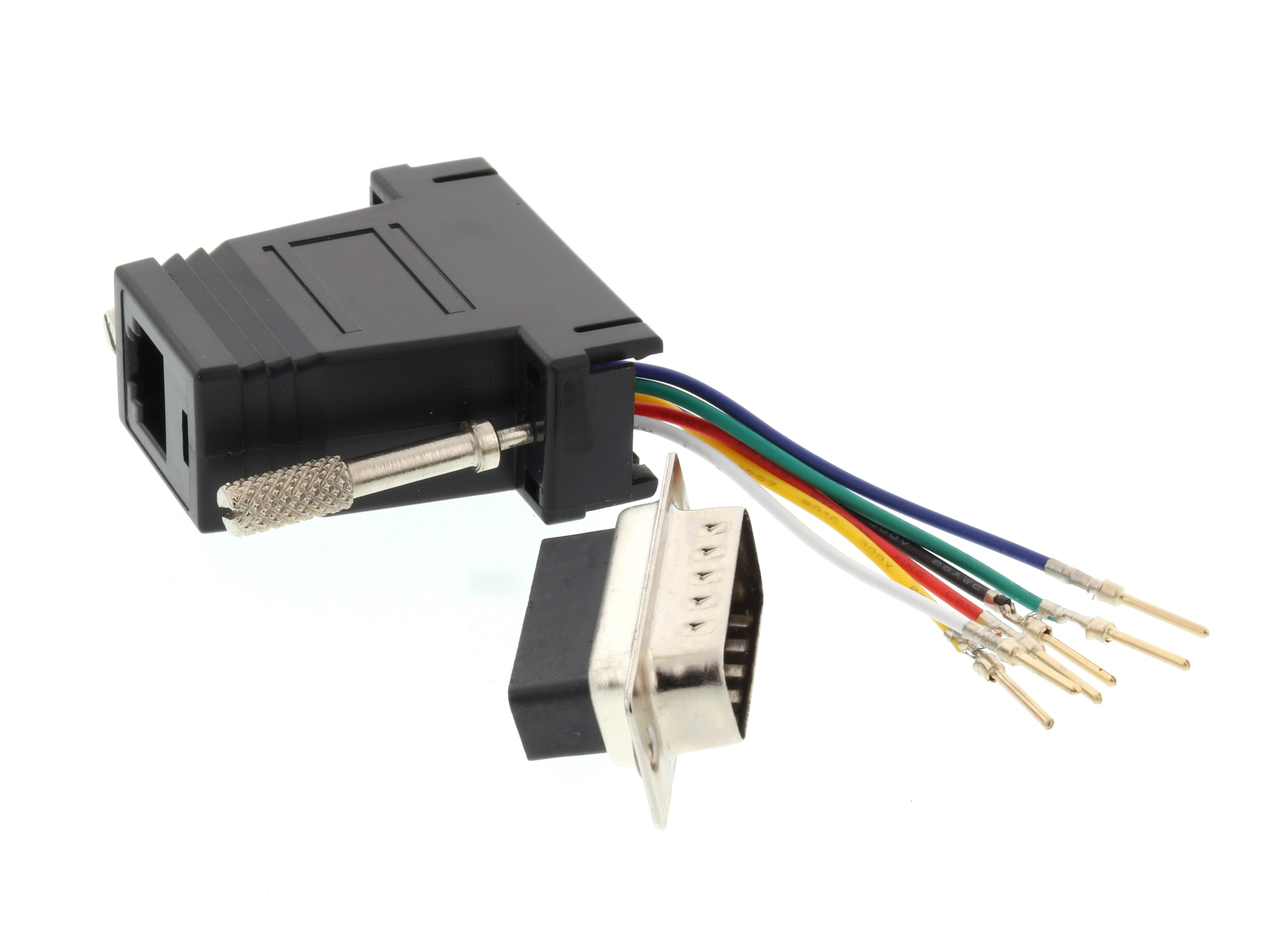 Modular Adapter Kit Db15 Male To Rj11 Rj12 Black Computer Cable Wiring Picture Of