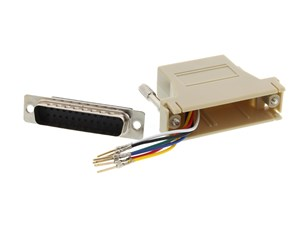 Picture of Modular Adapter Kit - DB25 Male to RJ11 / RJ12 - Beige