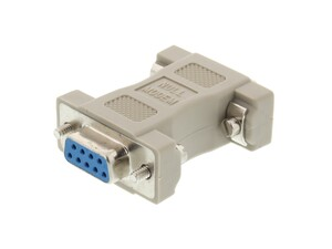 Picture of Null Modem Adapter for Serial Cables - DB9 Female to Female