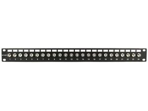 Picture of 24 Port Fully Loaded F-Type Coaxial Patch Panel - 1U