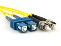 Picture of 25m Singlemode Duplex Fiber Optic Patch Cable (9/125) - SC to ST