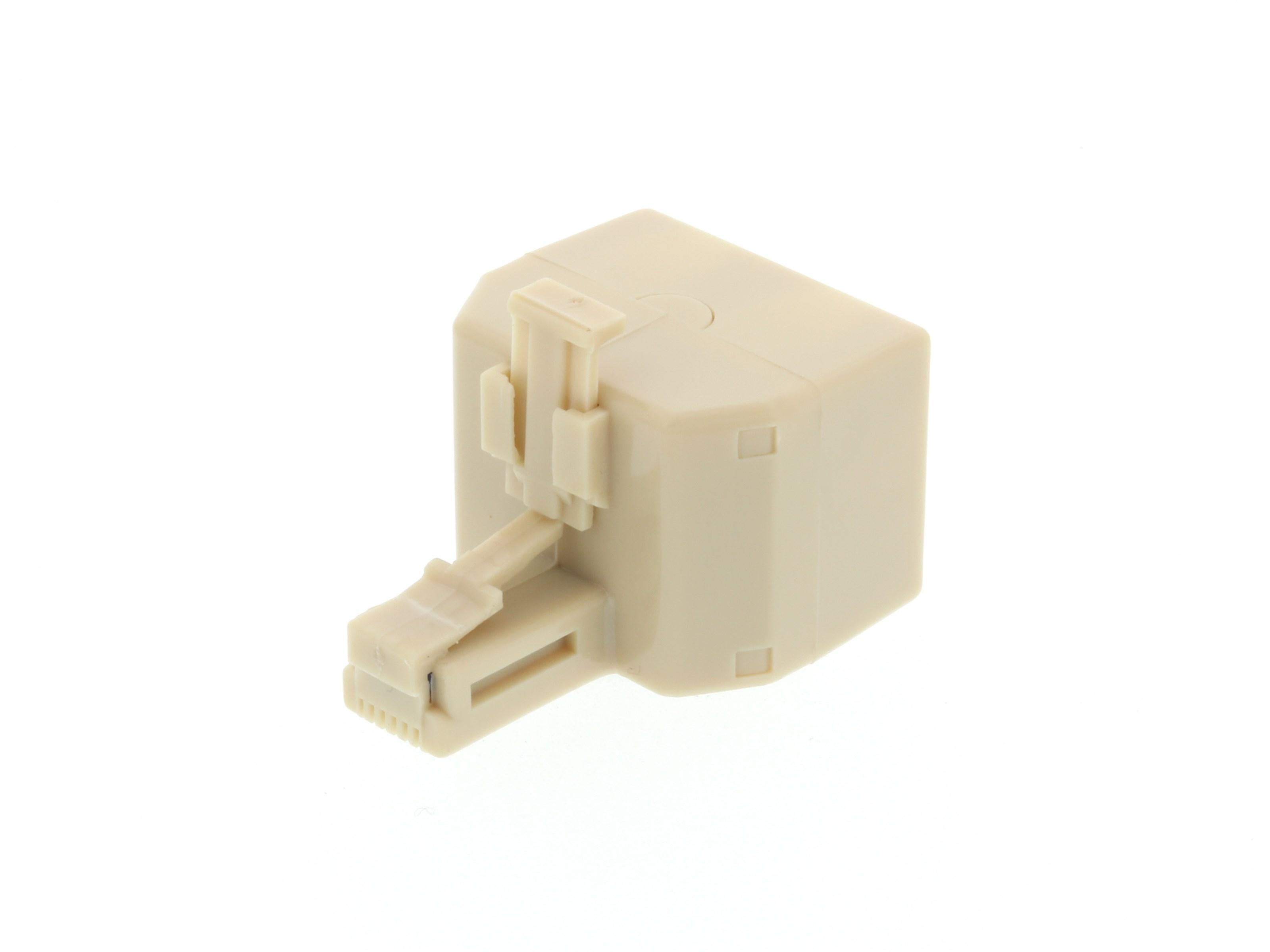 6m Modularkabel Westernkabel 2x RJ12 Stecker 6P6C ISDN Fax Modem Telefon 1:1