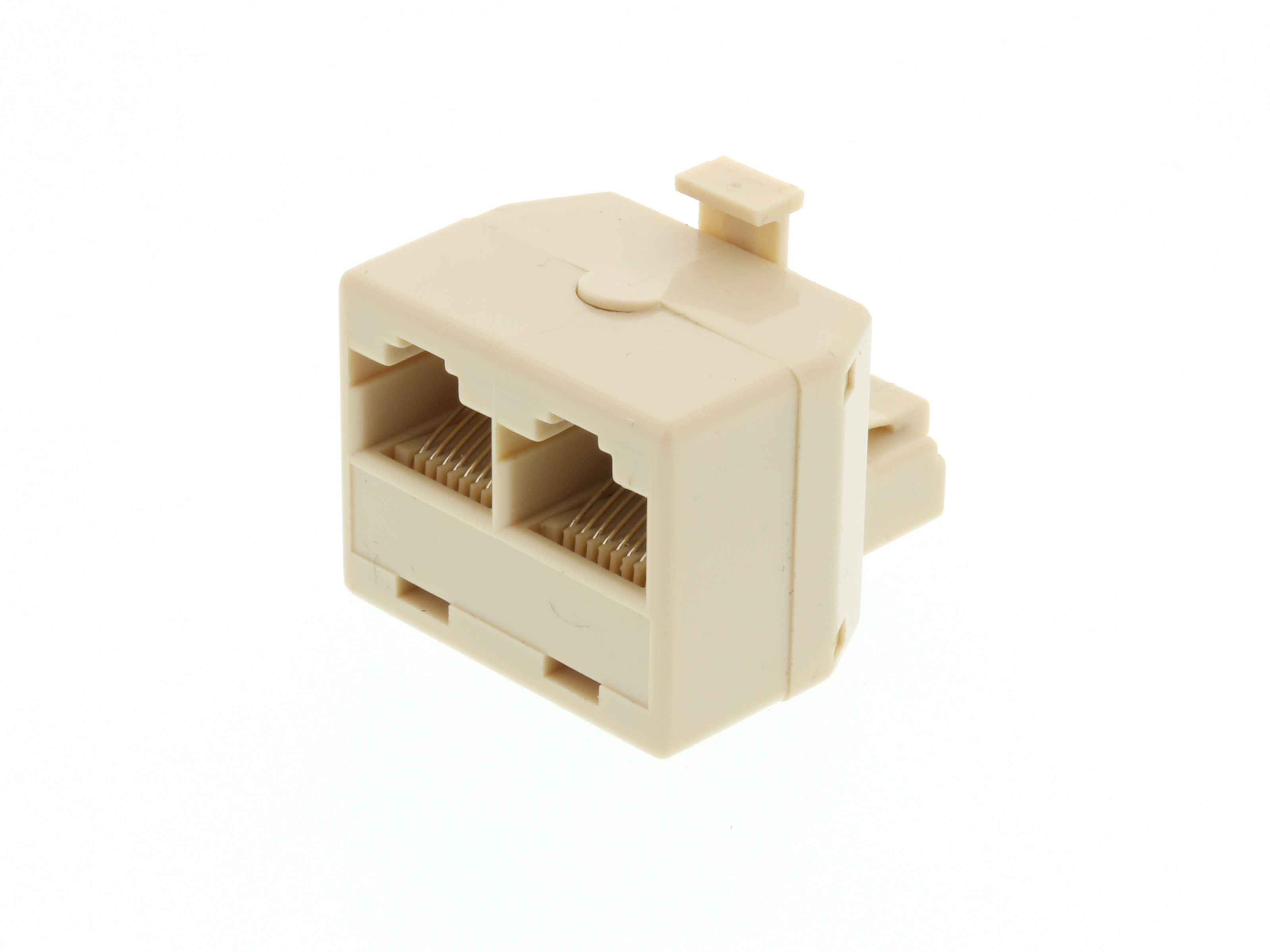 Modular Voice T Adapter 1 Male To 2 Female Rj45 8p8c For 8 Wire 4 Way Switch Box Picture Of