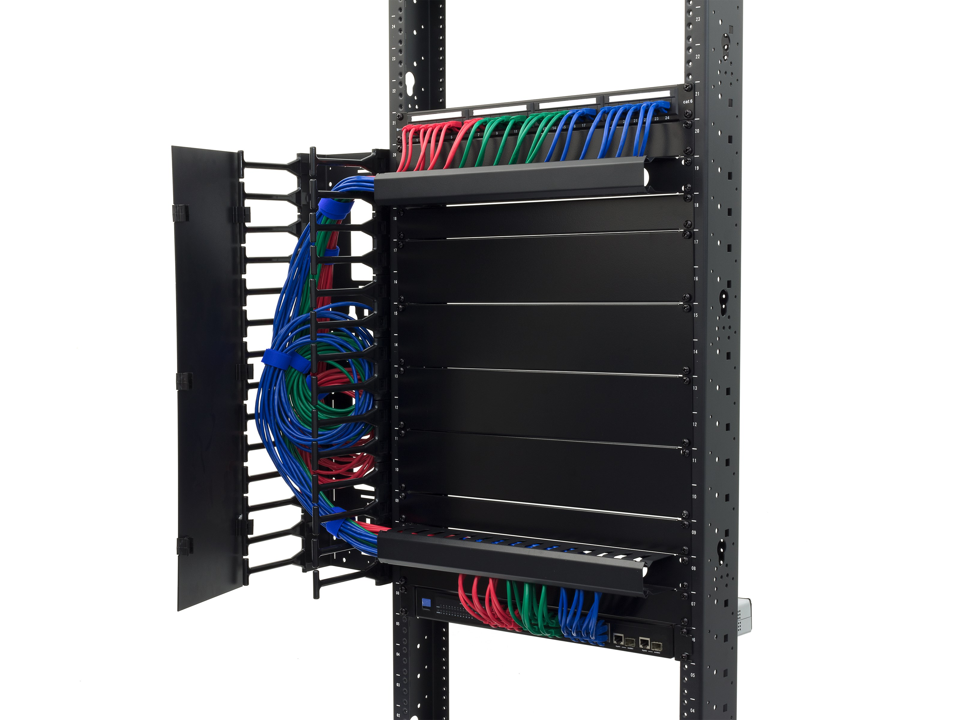 1u Cable Management Duct Computer Store Wiring Raceway Picture Of