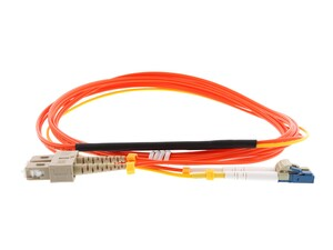 Picture of 1M Mode Conditioning Duplex Fiber Optic Patch Cable (50/125) - LC (equip.) to SC