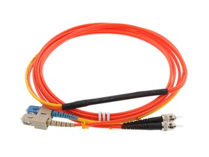 Picture of 2M Mode Conditioning Duplex Fiber Optic Patch Cable (62.5/125) - SC (equip.) to ST