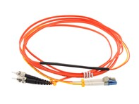 Picture of 1M Mode Conditioning Duplex Fiber Optic Patch Cable (50/125) - LC (equip.) to ST