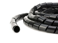 Picture of Black 1/2 Inch Polyethylene Spiral Wrap - 50 Feet