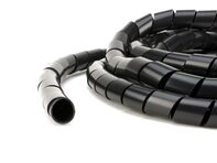 Picture of Black 1/4 Inch Polyethylene Spiral Wrap - 50 Feet