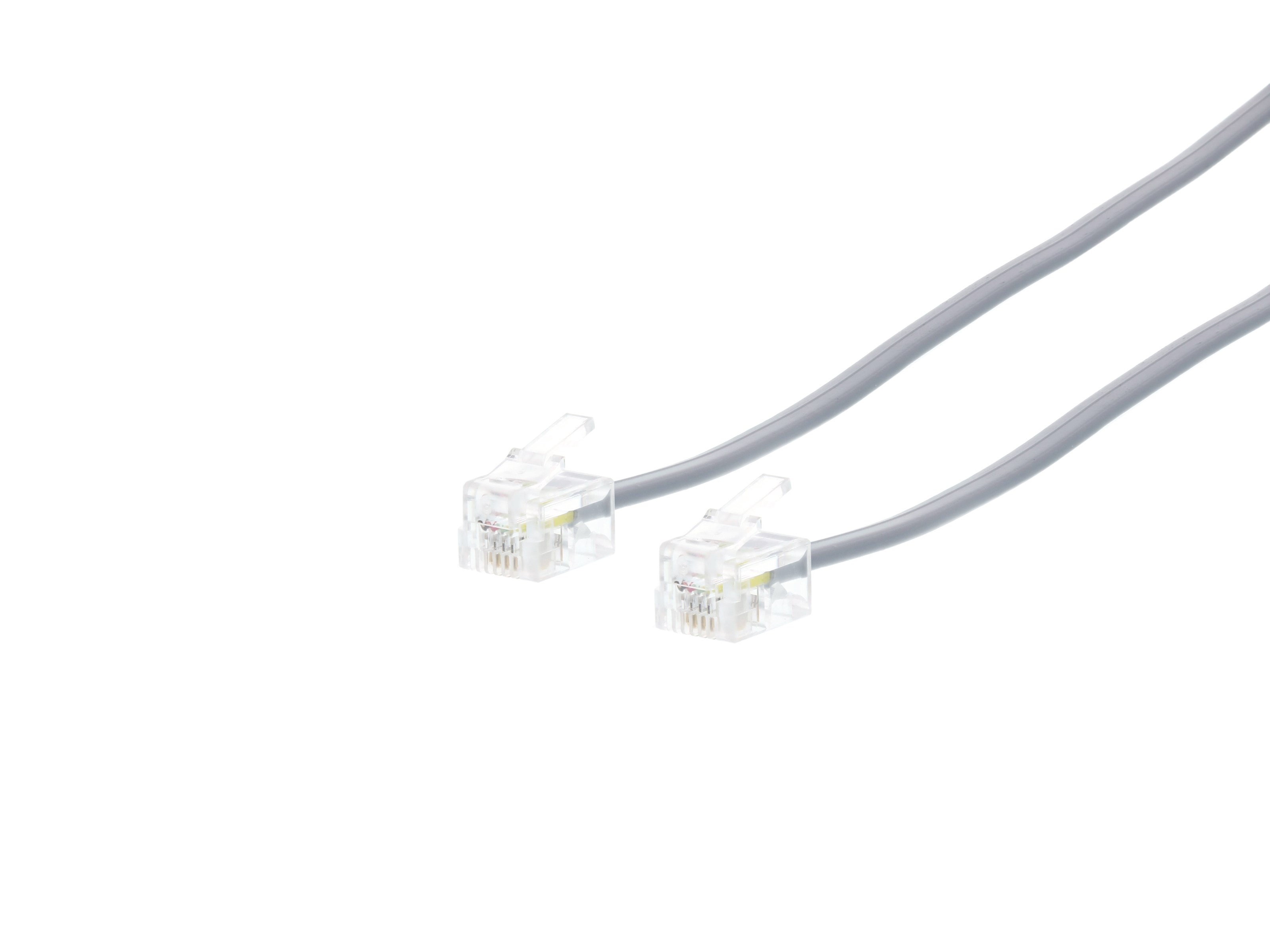 Rj11 4 Conductor Cross Wired Telephone Cable 7 Ft Computer Store Wiring Picture Of Modular