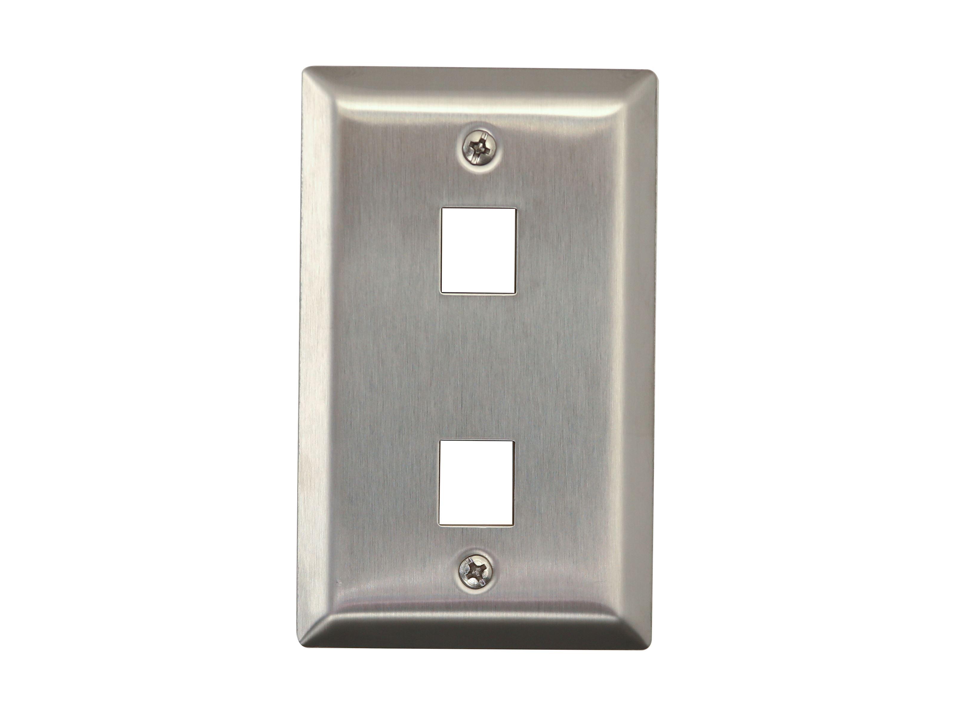 3 Pack White 4 Port//Hole Keystone Jack Modular Wall Plate Faceplate 2-Gang