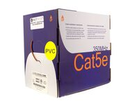 Picture of Cat5e 350Mhz Network Cable - Solid, Orange, Riser (CMR) PVC - 1000 FT