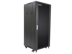 """Picture of Server Enclosure 27U 23""""W x 23""""D x 54""""H, Tempered Glass Door, Removable Side Panels, Solid Rear Door, Knockdown"""
