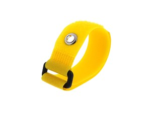 Picture of 8 Inch Yellow Cinch Strap with Eyelet - 5 Pack